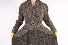 40s 50s LILLI ANN Coat  Black and Yellow Ombre by TwilaJeanVintage, $648.00