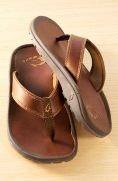 Leather flip flops for dad!