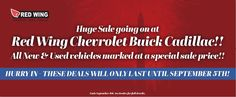 Open Labor Day from 9 - 5! Big sale! See you soon! #redwingchevrolet #chevrolet #labordaysale