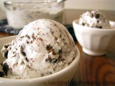 Cookies & Cream Frozen Yogurt via Healthy Food for Living
