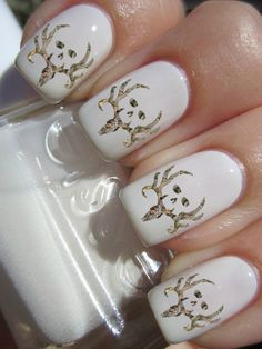 Camouflage Bone collector Nail Decals
