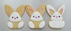 Please read about my article related to the Sprinkle-y Pink Easter Bunny Cookies. Easter with a kick! Easter Bunny Cupcakes, Easter Cookies, Holiday Cookies, Cute Cookies, Cupcake Cookies, Sugar Cookies, Frosted Cookies, Decorated Cookies, Cookies Decorados
