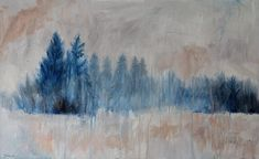 Janna Prinsloo | Winter Forest (2020) - contemporary landscape paintings available for sale | StateoftheART