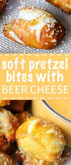 Pretzel Bites with Beer Cheese Dip Soft and chewy homemade pretzel bites that are salty and airy with a cheddar beer cheese dip.Soft and chewy homemade pretzel bites that are salty and airy with a cheddar beer cheese dip. Beer Cheese, Cheese Toast, Cheese Soup, Cheddar Cheese, Homemade Pretzels, Soft Pretzels, Appetizer Recipes, Snack Recipes, Cooking Recipes