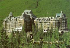 Banff Springs Hotel- over the top wonderful! The hotel was pretty spectacular. Imagine castle/Titanic/clipped accents/food presented like art.....