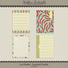 La Fiesta journaling cards freebie from Mellow Butterfly - wow, love these!!!