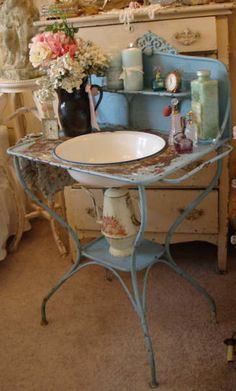 Antique English Washstand  www.parispanacheantiques.com
