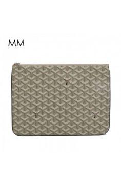 Goyard Clutch Bag MM Grey Goyard Tote Bag, Clutch Bag, Tote Bags, Louis Vuitton Damier, Monogram, Michael Kors, Grey, Pattern, Accessories