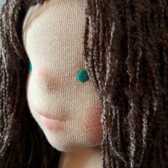 My girl with some make up. #beeswax #waldorf #doll #handmade #natural