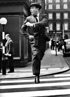 Gene Kelly on the streets, 1955.