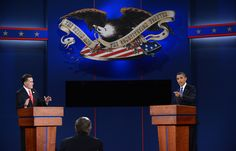 First Presidential Debate. Vote on the Winner. ThingLink Interactive image.