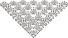 Italian blog Spaziolilla which has a bunch of great triangular crochet chart patterns for shawls. They also have pics of completed stitches, although the pics aren't the best quality. Worth checking it out though.