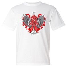 Make a strong impression for Vasculitis Awareness with our stand-out tattoo style design on shirts #Vasculitisawareness #Vasculitisribbon #Vasculitistshirts