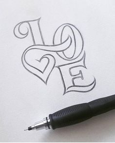 Cute sketch that says love