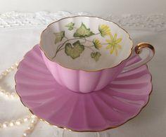 Beautiful Vintage Shelley Ludlow Shape Tea cup and Saucer  Teacup Set