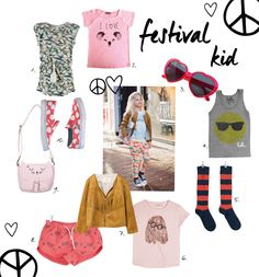 Festival kid voor kindermodeblog