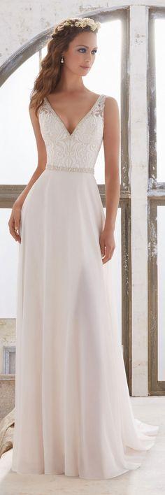 Morilee by Madeline Gardner - Blu Wedding Dresses 2017 / http://www.deerpearlflowers.com/morilee-by-madeline-gardners-blu-wedding-dresses-collection/4/ #weddingdress