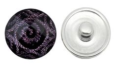 Chunk Snap Charm - Fire Spiral - Purple (J81)