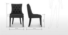 Flynn, une chaise demi-lune, noir d'encre   made.com