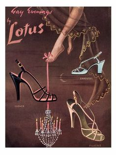 Lotus Shoes, 1950's #BrianAtwood