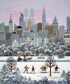 Jane Wooster Scott  —   Cross-country In Central Park  (747x900)