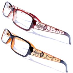 29f57dbdf1d Womens Demo Lens Floral Rhinestone Flower Modern Prescription Frame Eye  Glasses  Unbranded