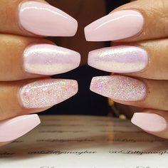Pink shimmer glitter