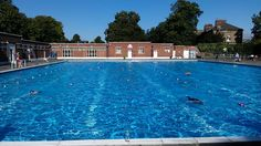 Brockwell Lido in Herne Hill, Greater London