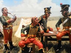 Some of the Hussars are engaged in a heated discussion about their adversaries abilities. They must beware not to underestimate them!