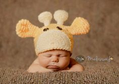 Hey, I found this really awesome Etsy listing at https://www.etsy.com/listing/204988680/hand-crocheted-baby-giraffe-hat-in-light