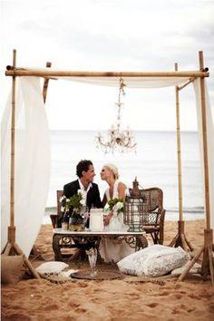 Gorgeous beach wedding!  #destination #beach #wedding