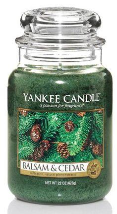 Yankee Candle Large 22-Ounce Jar Candle, Balsam & Cedar