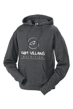 Gym Villains Nutrition Hoodie - Grey