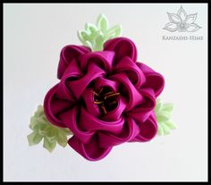 As I mentioned a while back with my Tiger Swallowtail kanzashi, I've been trying to formulate more realistic butterfly kanzashi. Well, I think I've come up with a good balance of realism and abstra...