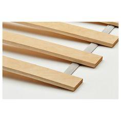MALM Bed frame, high, w 2 storage boxes - white stained oak veneer, Luröy - IKEA Ikea Malm, Ikea Leirvik, Leirvik Bed, Hemnes Bed, Ikea Bed Frames, Malm Bed Frame, Ikea Bed Slats, High Bed Frame, Twin Size Bed Frame