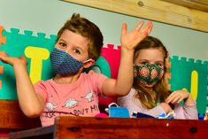 We sell masks for specially-made for kiddies aged 3 - 7 years old. Twins Jacques and Stella recently turned 5 and have joined the Mzansi Masks family!   You can get the same funky masks for your little ones from our site. In this pic, Jacques is wearing the turquoise shweswhe mini wave barrier mask and Stella is wearing the red and green peony barrier mask. Mask For Kids, 7 Year Olds, Age 3, Peony, Little Ones, Masks, Wave, Twins, Action