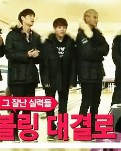 Xiumin. Doing the choreo to History. Didn't even notice it until I saw this gif. XD EXO Showtime ep. 10