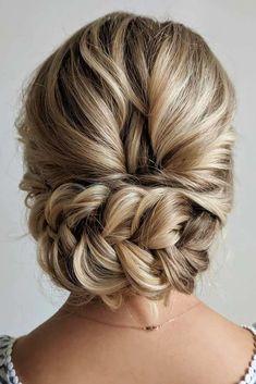 45 Wedding Hairstyles For Medium Hair - Hair Style - Braided Hairstyles Braided Hairstyles Updo, Wedding Hairstyles For Medium Hair, Up Dos For Medium Hair, Braided Updo, Bride Hairstyles, Medium Hair Styles, Short Hair Styles, Bob Styles, Evening Hairstyles