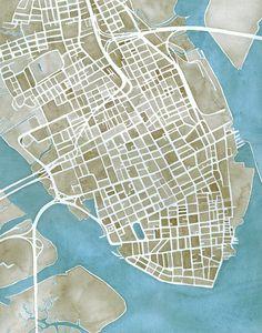 Charleston, South Carolina City Map by Anne E. McGraw