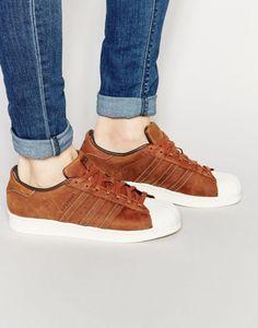 Adidas Originals S79471 Superstar - Baskets en cuir cirées - Marron