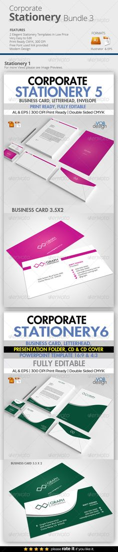 Edit Corporate Stationery Bundle 3
