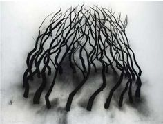 David Nash fantastic abstract contemporary artist in nature , land art installation and wood