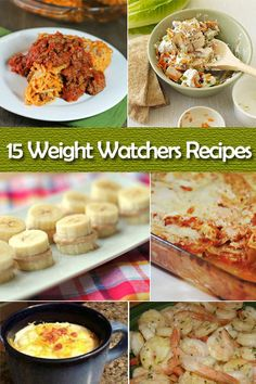 15 Weight Watchers Recipes! These recipes will definitely get you on your #ww way!