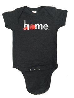 Kentucky Red Home Onesie (Unisex) - Our newborns, infants and young children need to show their state pride & team spirit too, right?   http://mystatethreads.com/collections/kentucky/products/unisex-kentucky-red-home-onesie-charcoal  #Kentucky #bluegrass #home #newborns #babyclothes #Louisville #cardinals #MarchMadness