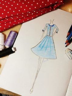 I've tried to sketch this dress. yes, im newbie