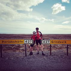 Halfway through the Gran Fondo with my babe! #cycling #iceland #GranFondo #roadslikethese