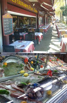"""""""Playa Europa"""" chiringuito bajo el paseo maritimo de Marbella en España. Destaca por su amplia cocina, variedad de pescados frescos a la parrilla y paellas. (SAMSUNG DUOS 18.06.2013 14:06 by fbb) http:www.skindefenders.com"""
