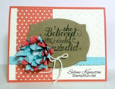 Stamp 4 Fun with Selene Kempton ~ Stampin' Up! Independent Demonstrator: 1/6 Stampin' Up! Pop-Up Posies Designer Kit and Feel Goods