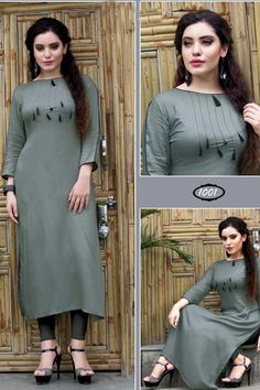 Dress Neck Designs, Designs For Dresses, Blouse Designs, Plain Kurti Designs, Kurta Designs Women, Stylish Dresses, Fashion Dresses, Modest Fashion, Party Kleidung