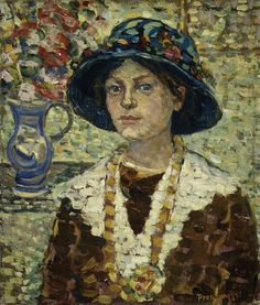 Maurice Prendergast - Portrait of a Girl with Flowers